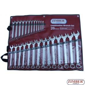 К-т звездогаечни ключове 26 части от 6-32мм, ZR-17CWS26 - ZIMBER-TOOLS