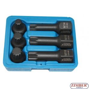 Комплект бит- M вложки 6ч.ударни - ZR-06ISS12H2406 - ZIMBER PROFESSIONAL