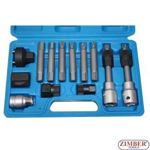 К-т ключове за демонтаж на шайбите на алтернатори 13 бр. ZR-36VBBS12  - ZIMBER-PROFESSIONAL