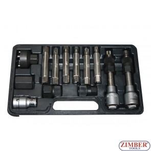 К-т ключове за демонтаж на шайбите на алтернатори 13 бр. ZR-36VBBS12  - ZIMBER-PROFESSIONAL-TOOLS