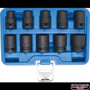 """Комплект ударни вложки 1/2"""" от 10-mm до -24-mm, къси шестостени 10-части, 5205- BGS technic."""