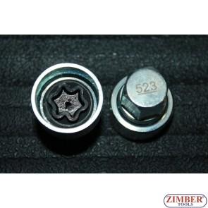 Ключ за секретни болтове на VW Golf Passat T4 -523- ZIMBER-PROFESSIONAL