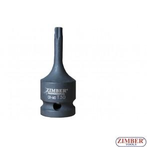 "Вложка ударна торкс- Т45, 1/2"" - ZR-08IBST1245 - ZIMBER TOOLS"