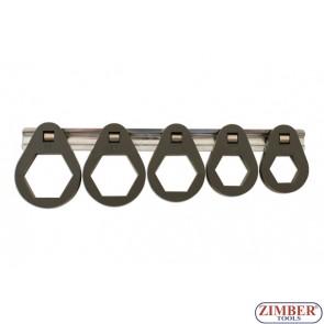 """Ключове за маслени филтри к-т 5бр.24mm/27mm/30mm/32mm/36mm/38mm x 3/8""""D - ZR-36OFRT7 - ZIMBER-PROFESSIONAL"""
