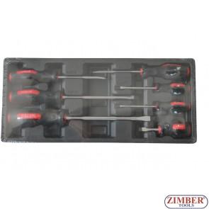 Отвертки к-т 7части (части за количка)  -  ZT-00807 - SMANN TOOLS.