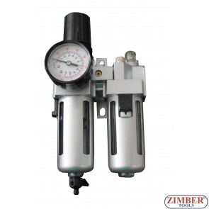 Пневматичен регулатор с филтър двоен (подготвителна група)  - ZR-11ACUFL1201 - ZIMBER TOOLS