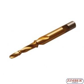 Резервна конусна бургия 9*5.5mm за скъсани подгревни свещи - ZIMBER -PROFESSIONAL