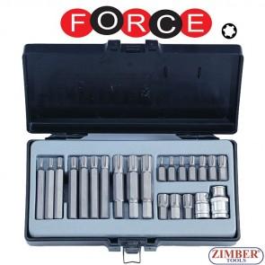 Комплект битове - накрайници 22 части - FORCE