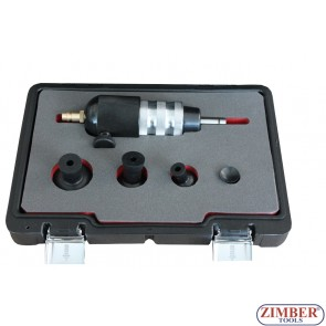 Пневматичен инструмент за шлайфане на клапани к-т с 4 накарайника  - ZT-04A2207D - SMANN PROFESSIONAL