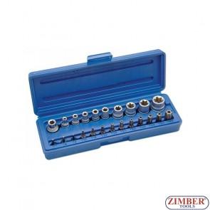 Вложки Е-та и битове - 23 части ZR-14BSSS23 - ZIMBER PROFESSIONAL