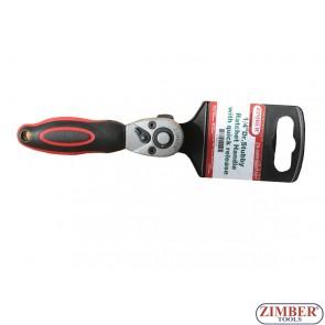 "Тресчотка мини 1/4"", 72 зъба - ZR-04RHSU01401 - ZIMBER-PROFESSIONAL"