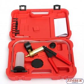 Вакуум помпа,  К-т за източване на спирачна течност с вакуум помпа-zt-04099-zimber-tools