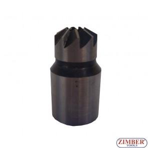 Фрезер за почистване гнездата на дизелови дюзи 1бр. - 17x21mm -ZR-36RS05-4- ZIMBER PROFESSIONAL