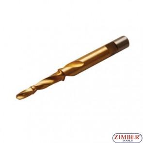 Резервна конусна бургия 8*5.5mm за скъсани подгревни свещи - ZIMBER - TOOLS