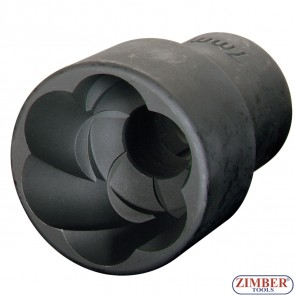 "Вложка екстрактор за отвиване на повредени болтове и гайки 1/2""Dr. 10mm,  ZR-41PTSS1210- ZIMBER TOOLS"