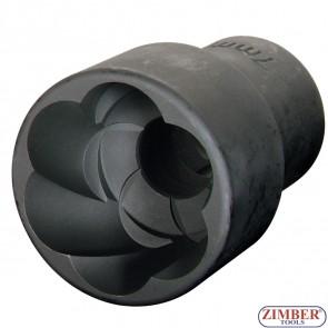 "Вложка екстрактор за отвиване на повредени болтове и гайки 1/2""Dr. 18mm,  ZR-41PTSS1218- ZIMBER TOOLS"