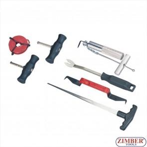 К-т инструменти за сваляне на автостъкла 7части, ZT-04045- SMANN PROFESSIONAL
