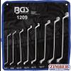 Комплект ключове лули двустранни 6 x 7-mm - 20 x 22 mm. 8 бр. (1209) - BGS technic